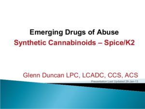 Synthetic Marijuana Slide Lecture
