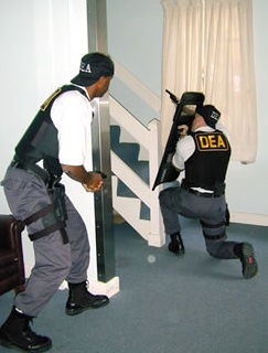 DEA bust stairs inside for spice addict