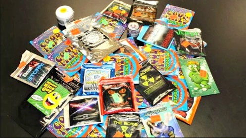 variety of synthetic marijuana packets k2 spice
