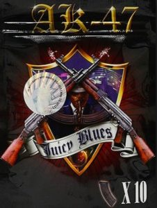 AK47 Juicy Blues potpourri synthetic marijuana